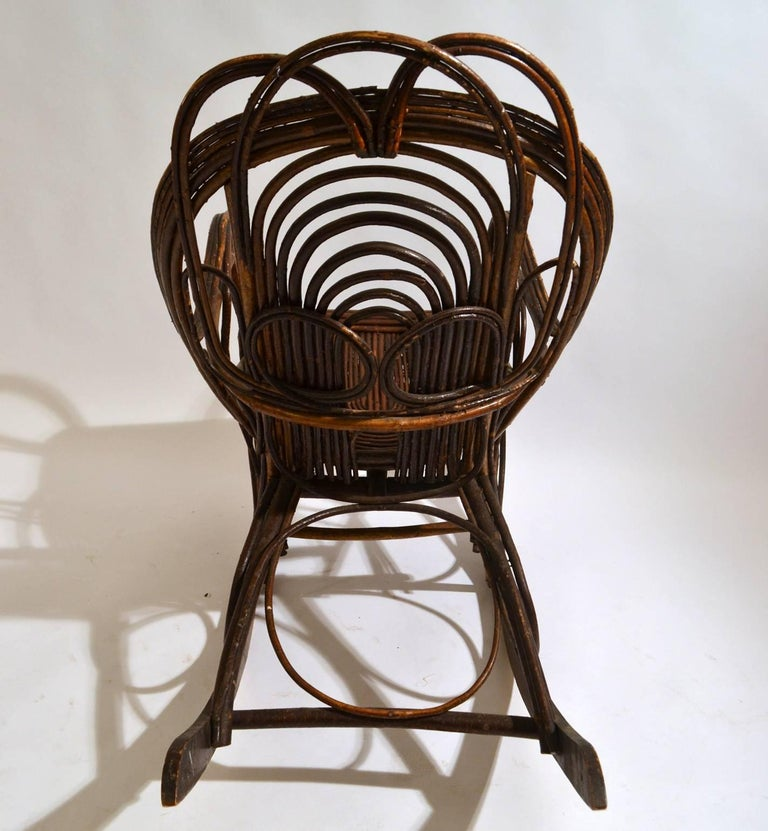 Rocking Chair in Bentwood Willow, Swedish, 1900-1920 1