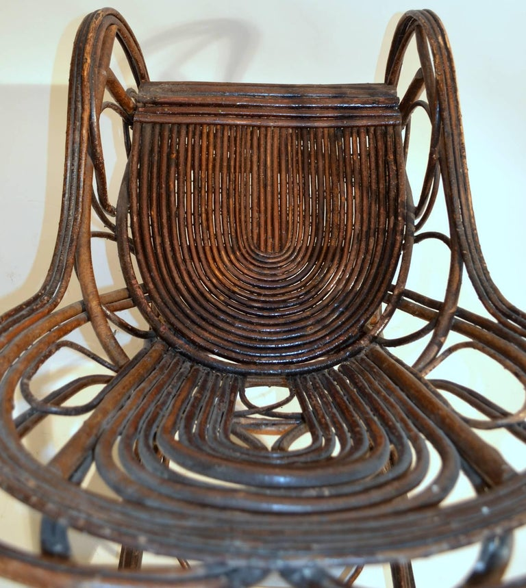 Rocking Chair in Bentwood Willow, Swedish, 1900-1920 2