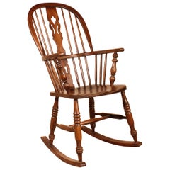 Rocking Chair in Oak, 19th Century from England