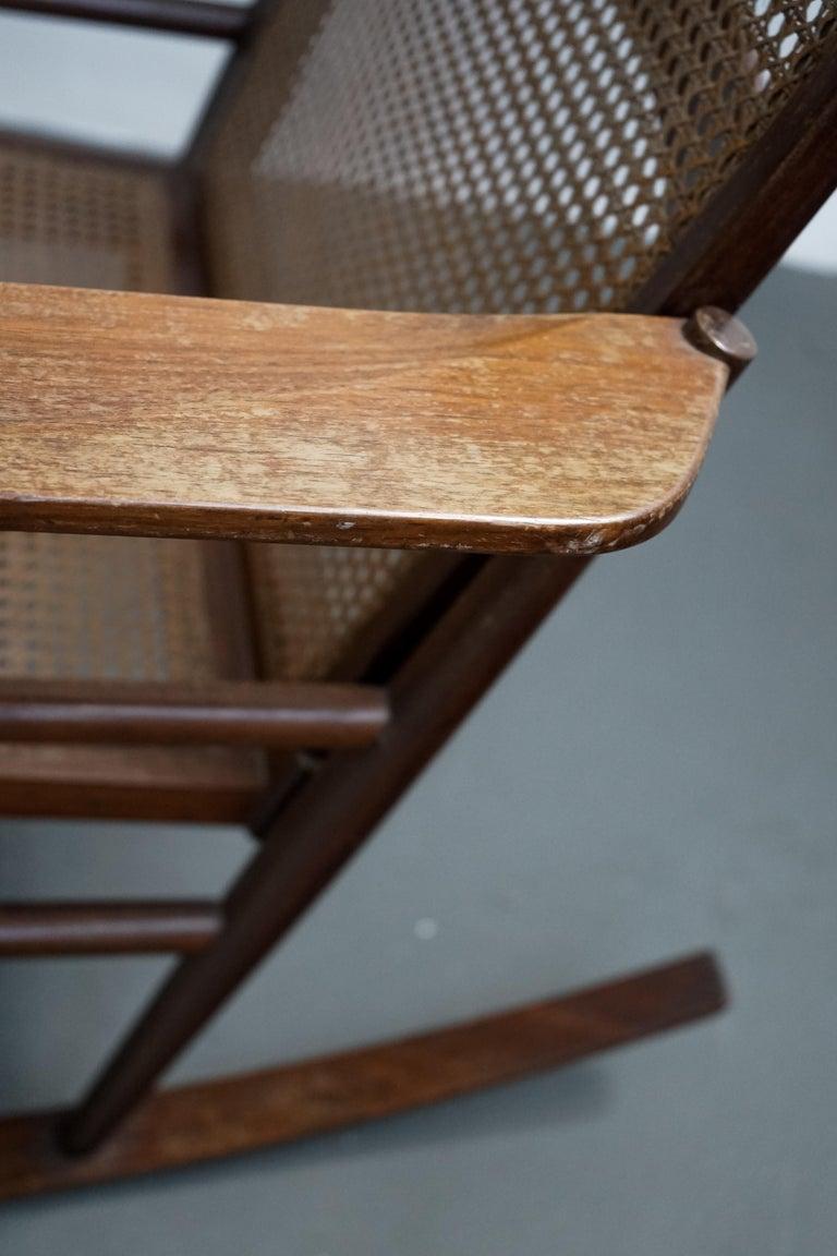 Rocking Chair Joaquim Tenreiro, 1960s, Brazilian Midcentury Design For Sale 6