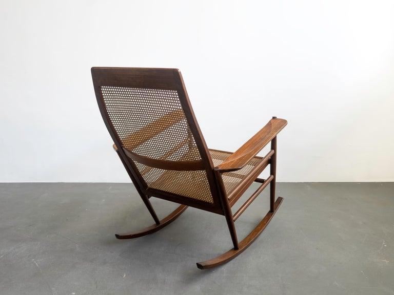 Rocking Chair Joaquim Tenreiro, 1960s, Brazilian Midcentury Design For Sale 1