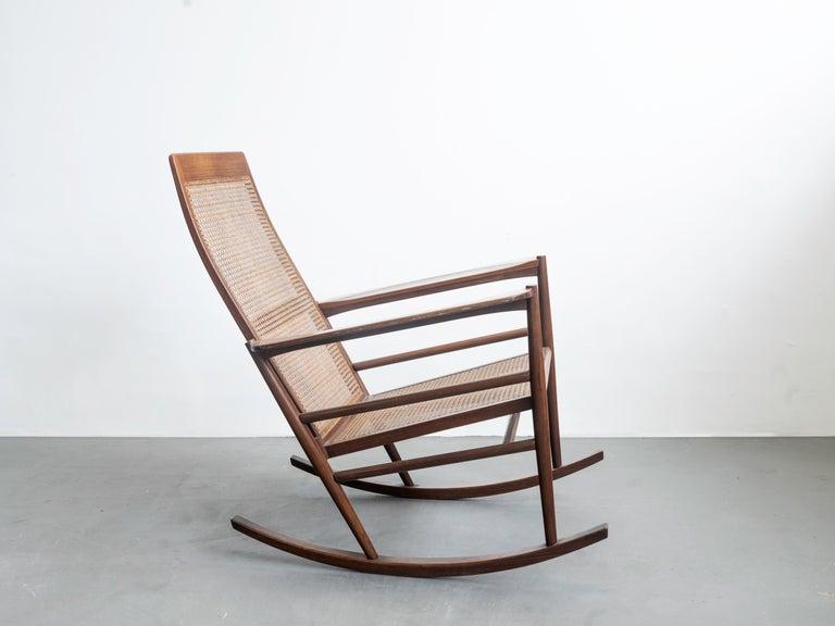 Rocking Chair Joaquim Tenreiro, 1960s, Brazilian Midcentury Design For Sale 2