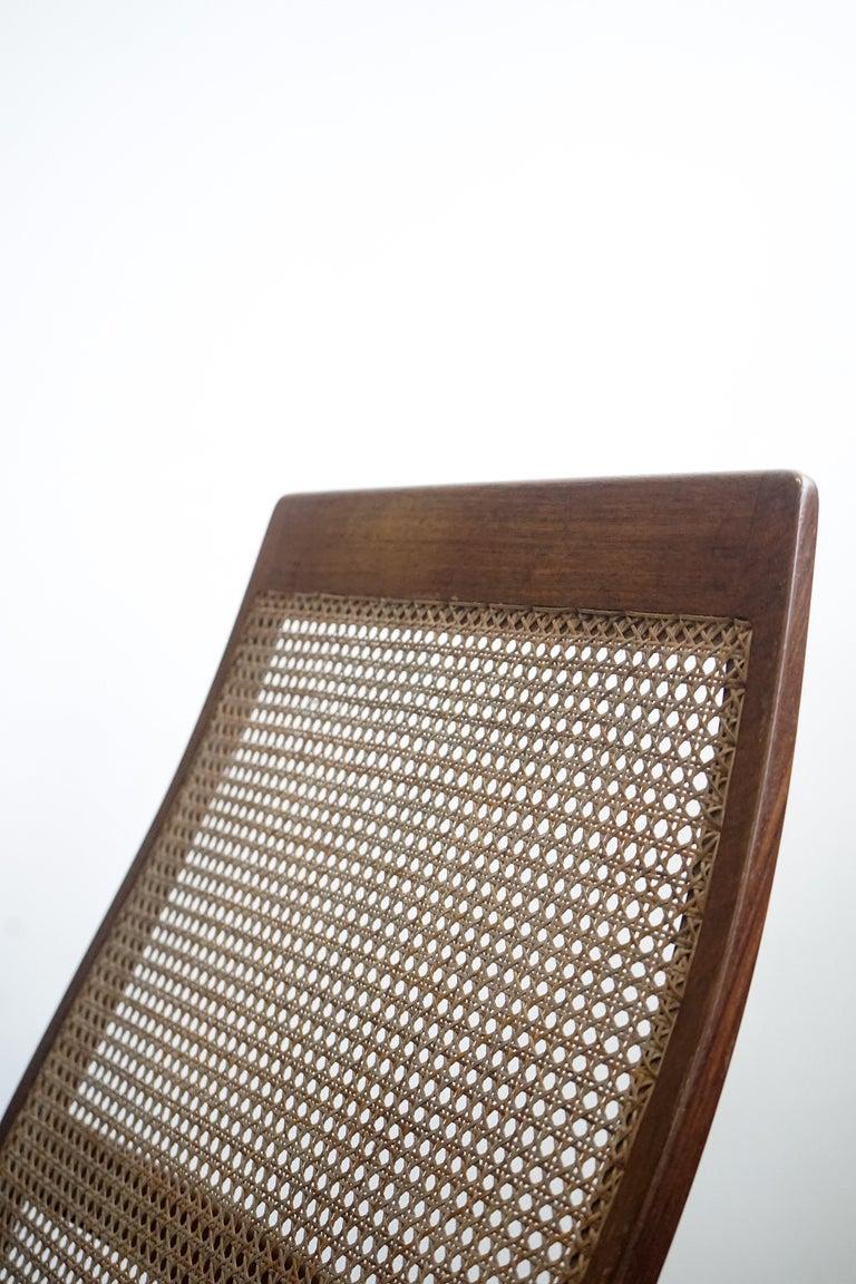 Rocking Chair Joaquim Tenreiro, 1960s, Brazilian Midcentury Design For Sale 3