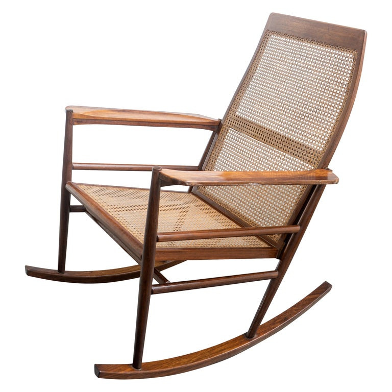 Rocking Chair Joaquim Tenreiro, 1960s, Brazilian Midcentury Design For Sale