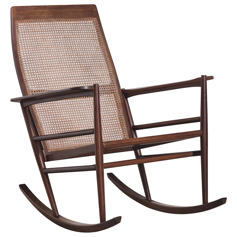 Rocking Chair Joaquim Tenreiro, 1960s, Brazilian Midcentury Design