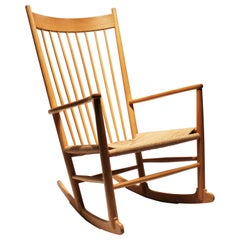 Rocking Chair, Model J16, of Beech by Hans J. Wegner, 1960s