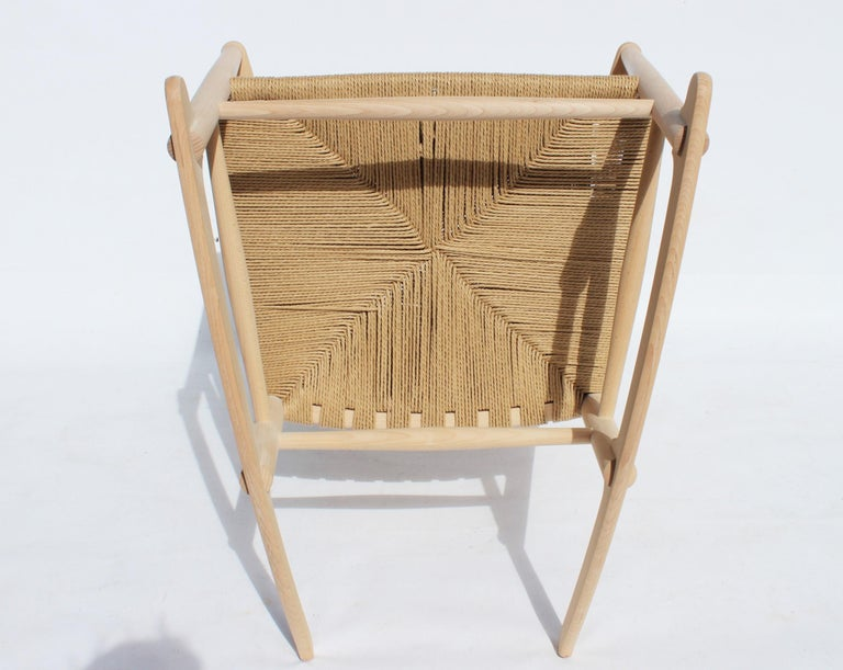 Rocking Chair, Model J16, of Beech, by Hans J. Wegner and Fredericia For Sale 4