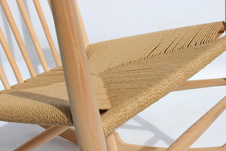 Mid-20th Century Rocking Chair, Model J16, of Beech, by Hans J. Wegner and Fredericia For Sale