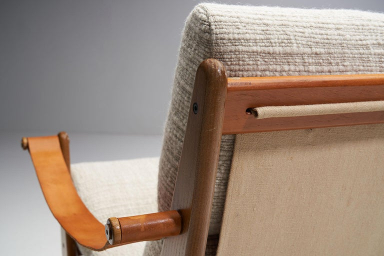 Rocking Chair of Oak by Bent Møller Jepsen, Denmark, ca 1960s For Sale 3