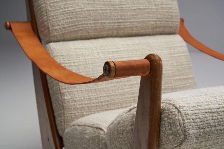 Rocking Chair of Oak by Bent Møller Jepsen, Denmark, ca 1960s For Sale 7