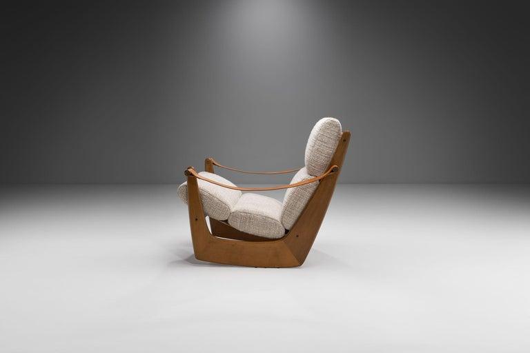 Scandinavian Modern Rocking Chair of Oak by Bent Møller Jepsen, Denmark, ca 1960s For Sale