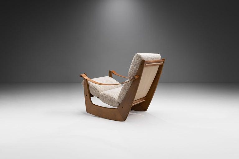 Danish Rocking Chair of Oak by Bent Møller Jepsen, Denmark, ca 1960s For Sale