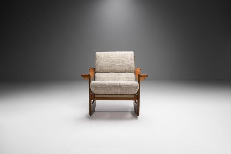 Rocking Chair of Oak by Bent Møller Jepsen, Denmark, ca 1960s In Good Condition For Sale In Utrecht, NL