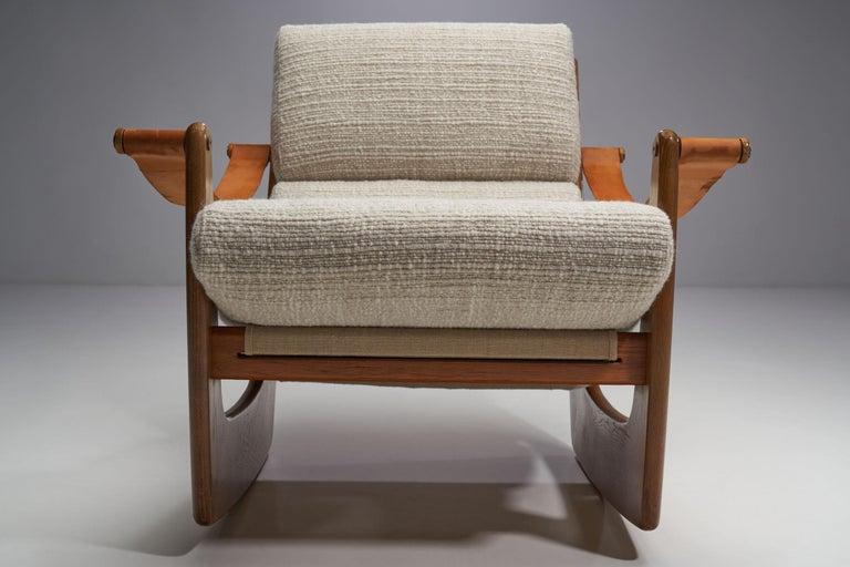 Rocking Chair of Oak by Bent Møller Jepsen, Denmark, ca 1960s For Sale 1