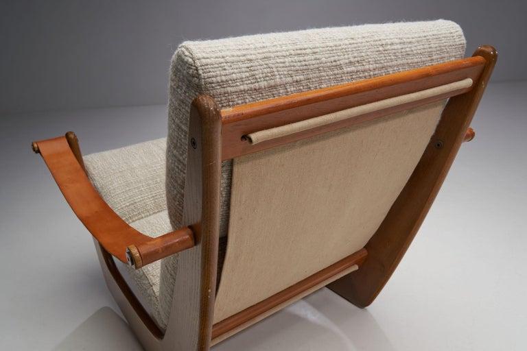 Rocking Chair of Oak by Bent Møller Jepsen, Denmark, ca 1960s For Sale 2