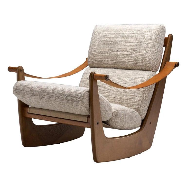 Rocking Chair of Oak by Bent Møller Jepsen, Denmark, ca 1960s For Sale