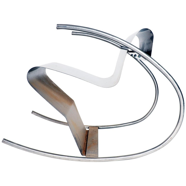 Terrific Rocking Chair Sculpture In Stainless Steel Rocknroll By Sigurdur Gustafsson Unemploymentrelief Wooden Chair Designs For Living Room Unemploymentrelieforg
