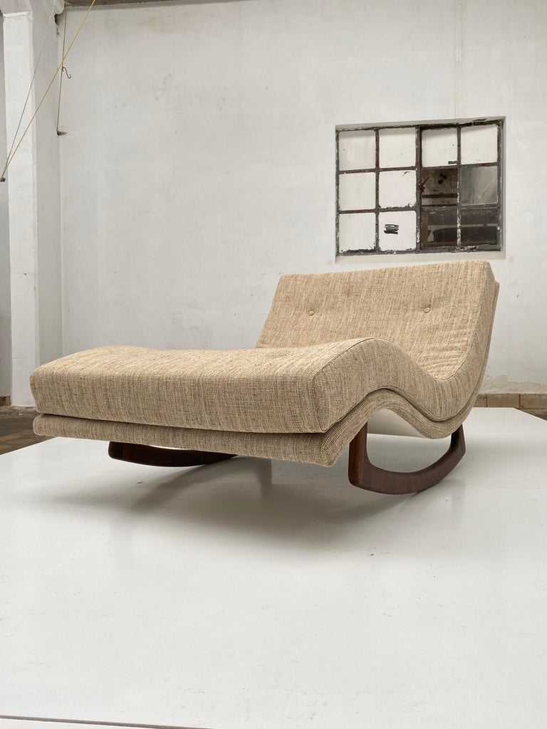 Mid-Century Modern Rocking Chaise Lounge by Adrian Pearsall for Craft Associates, USA, 1960s For Sale