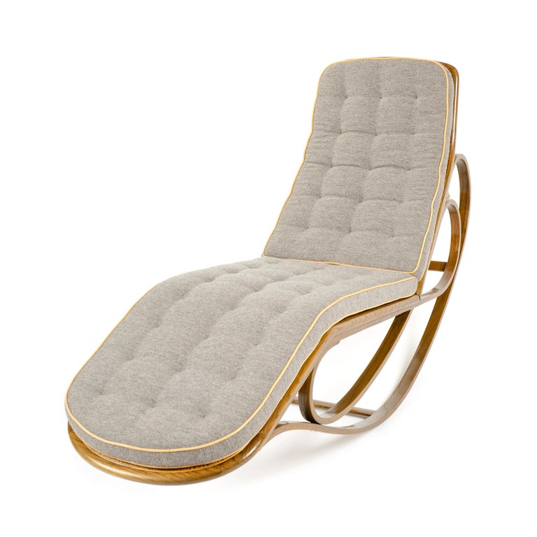 American Rocking Chaise Lounge by Edward Wormley For Sale