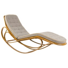 1940s Rocking Chaise Lounge by Edward Wormley for Dunbar