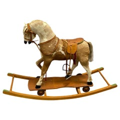 Rocking Horse and Pull Toy, Antique, German, 1900s