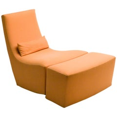 Rocking Lounge Chair and Ottoman by Ligne Roset