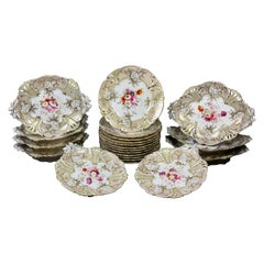 Rockingham Porcelain Dessert Set