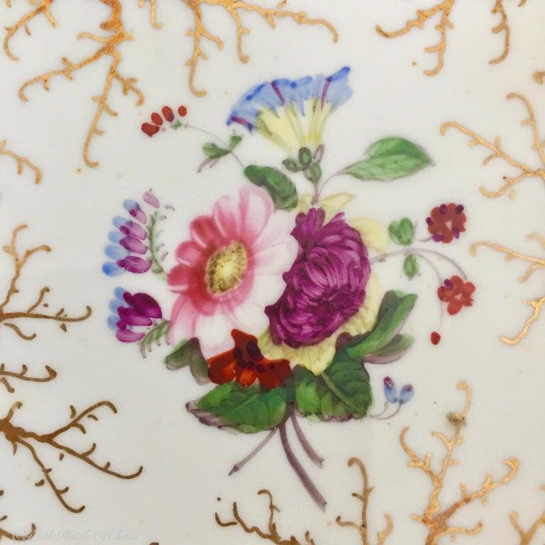 Rockingham Porcelain Full Tea Service, Gilt and Flowers, Rococo Revival, 1832 For Sale 3