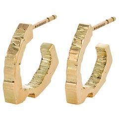 RockStars Trigonal Hoop Earrings 18 Carat Yellow Fairtrade Gold
