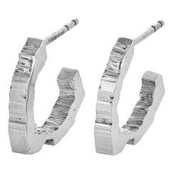 RockStars Trigonal Hoop Earrings in 18 Carat White Fairtrade Gold