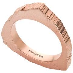 RockStars Trigonal Slice Ring in 18 Carat Red Fairtrade Gold