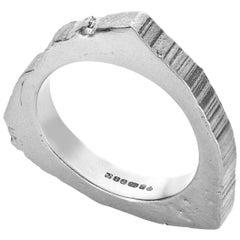 RockStars Trigonal Slice Ring in 18 Carat White Fairtrade Gold