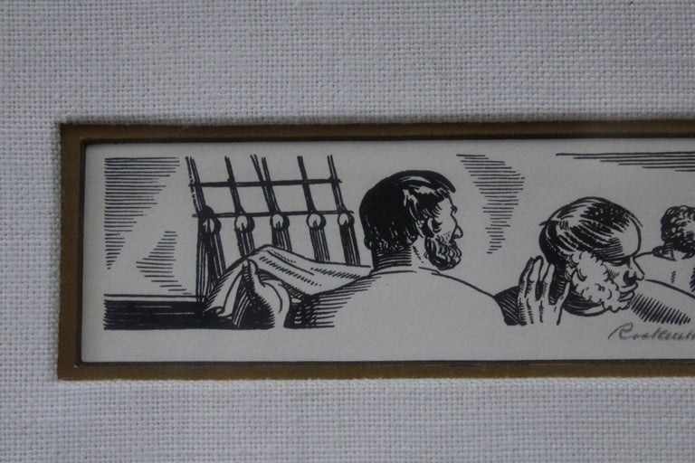 American Rockwell Kent 1930s Pencil Signed Lithograph from Herman Melville's Moby Dick