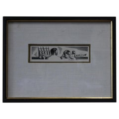 Rockwell Kent 1930s Pencil Signed Lithograph from Herman Melville's Moby Dick