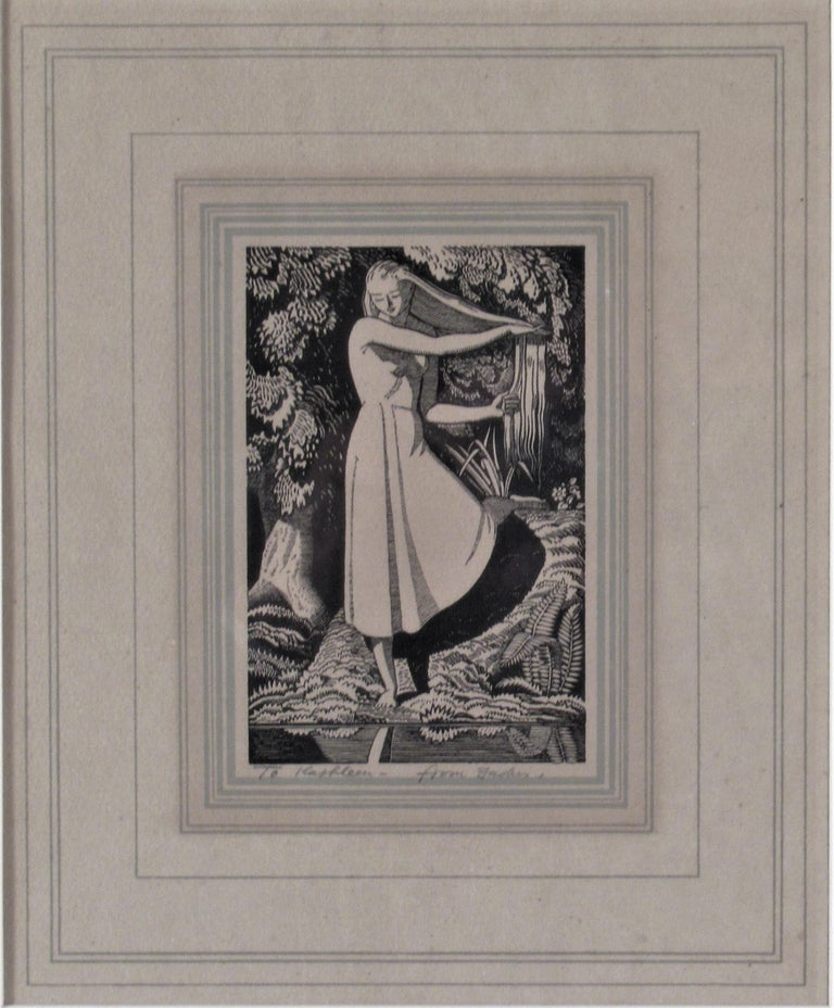 Girl on the Front of a Pond - Print by Rockwell Kent