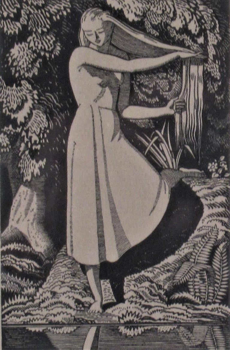 Girl on the Front of a Pond - American Modern Print by Rockwell Kent