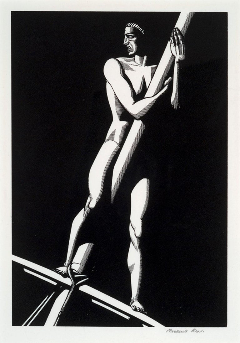 Rockwell Kent Figurative Print - THE LOOKOUT