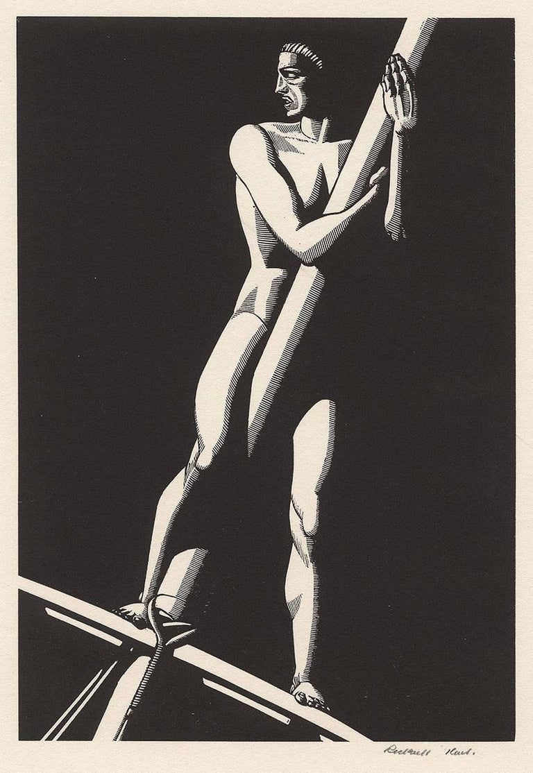Rockwell kent figurative print the lookout