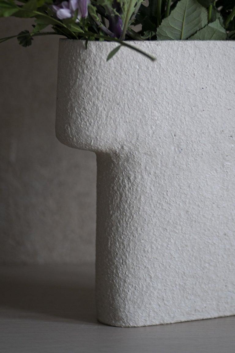 Scandinavian Modern Rocky Ceramic Pillar Vase For Sale