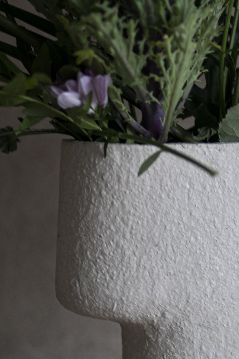 Finnish Rocky Ceramic Pillar Vase For Sale