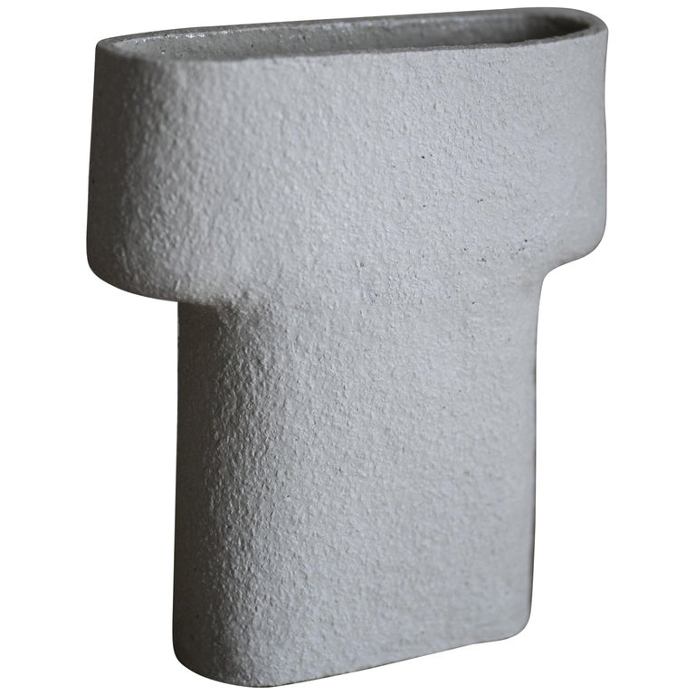 Rocky Ceramic Pillar Vase For Sale