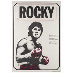 Rocky Czech Film Movie Poster, Jan Antonin Pacak, 1980 Vintage Rare