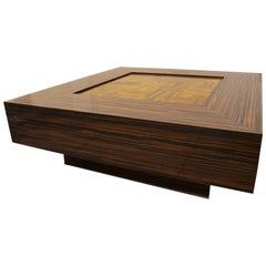 'Rocky Tiger' Centre or Coffee Table in Macassar Ebony and Tiger Eye