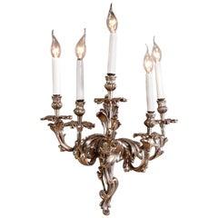 Rococo Applique Silvered Bronze