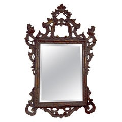Rococco Style Gilt  Carved Wood Mirror