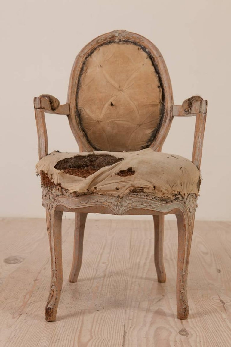 18th Century and Earlier Rococo Armchair, Origin: Sweden, Circa 1760; Featured in Ralph Lauren Windows For Sale