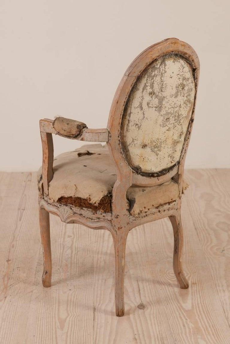 Paint Rococo Armchair, Origin: Sweden, Circa 1760; Featured in Ralph Lauren Windows For Sale