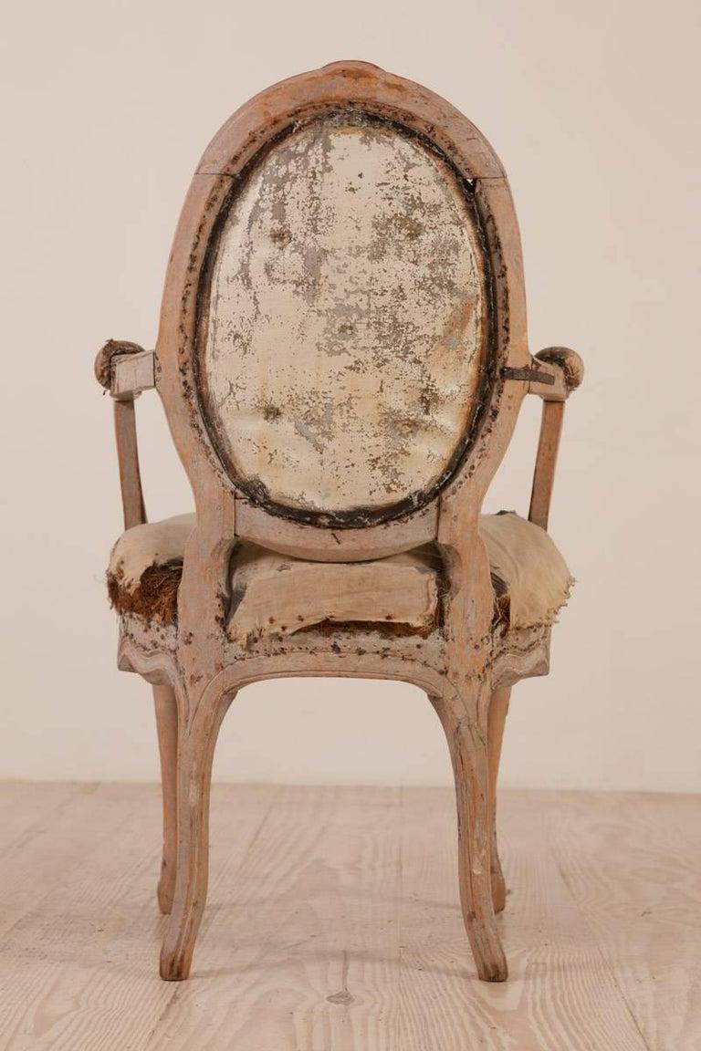 Rococo Armchair, Origin: Sweden, Circa 1760; Featured in Ralph Lauren Windows For Sale 1