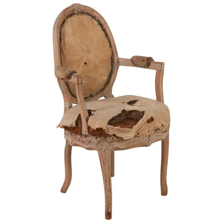 Rococo Armchair, Origin: Sweden, Circa 1760; Featured in Ralph Lauren Windows For Sale