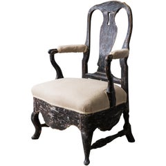 Rococo Armchair from Drottningholm Castle